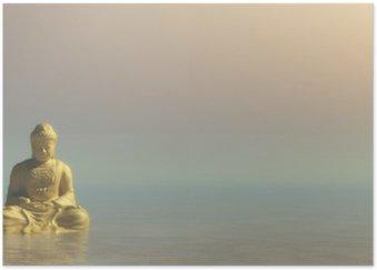 Plakát Zlatý Buddha - 3D vykreslování