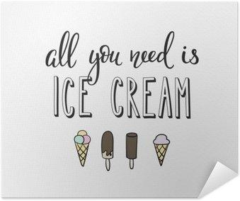 Plakát Zmrzlina obchod propagace motivace reklama