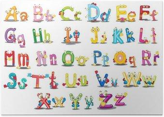 Plakát Znaky abecedy