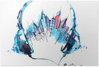 Plakát Zvuky města