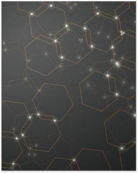 Poster Abstract background di celle esagonali, geometrico design illustrazione vettoriale eps 10
