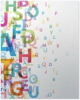 Poster Abstrakt Farbe Alphabet auf weißem Hintergrund # Vektor