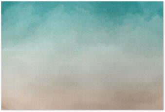 Poster Abstrakte Aquarell Textur
