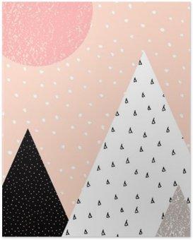 Poster Abstrakte geometrische Landschaft