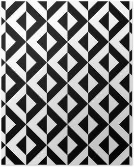 Poster Abstrakte geometrische Muster