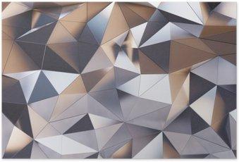 Poster Abstrakte Metallwand