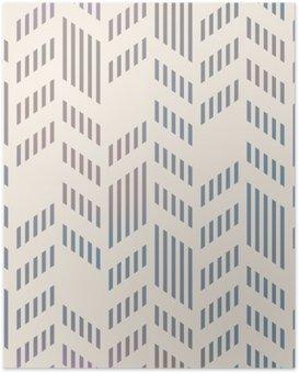 Poster Abstrakte Nahtlose geometrische Vektor-Chevron-Muster. Mesh-backgro