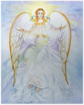 "Poster Aquarell ""Angel"""