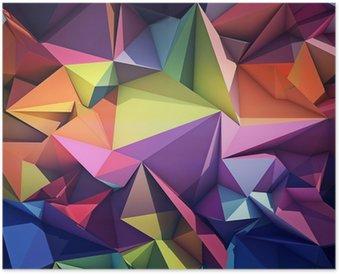 Poster Astratto Sfondo Geometrico
