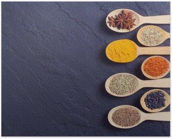 Poster Auswahl von indischen Gewürzen