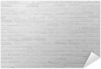 Poster Autoadesivo Bianco muro di mattoni grunge texture di sfondo