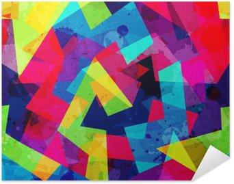 Poster Autoadesivo Brillante disegno geometrico senza soluzione di continuità con effetto grunge