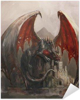 Poster Autoadesivo Castello Drago