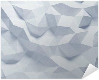 Poster Autoadesivo Estratto sfaccettato geometrica sfondo di carta
