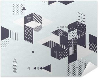 Poster Autoadesivo Priorità bassa geometrica astratta moderna