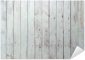 Poster Autoadesivo Sfondo bianco e nero di tavolato in legno