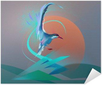 Poster Autoadesivo Uccello gabbiano sterna