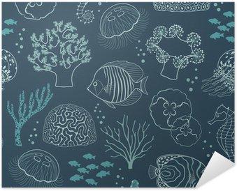 Poster Autoadesivo Underwater modello di vita