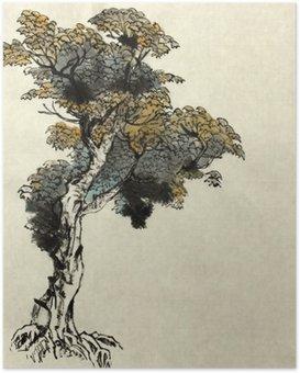 Poster Baumzeichnung Beispiel