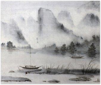 Poster Chinesische Malerei