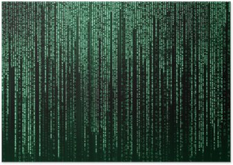 Poster Digitalen abstrakten Hintergrund