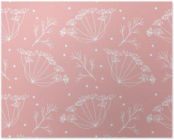 Poster Dill oder Fenchel Blumen und verlässt Muster.