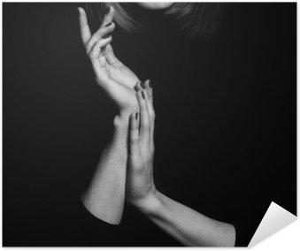 Poster Femme fatale Konzept. Alte klassische Filme Schauspielerin Stil.