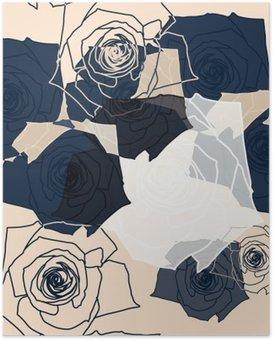 Poster Fiore modello senza soluzione di continuità, Eps 10