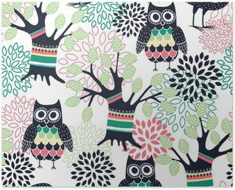 Poster Foresta seamless