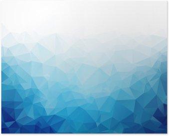 Poster Geometrica blu ghiaccio texture di sfondo