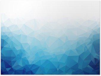 Poster Geometrische blaue Eis Textur Hintergrund