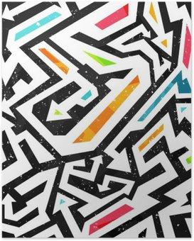 Poster Graffiti nahtlose Muster