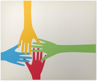 Poster Hände Anschluss