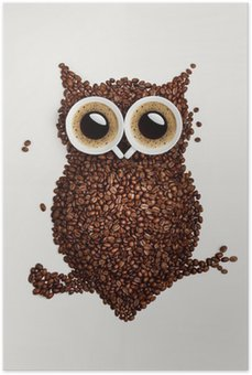 Poster HD Coffee gufo.