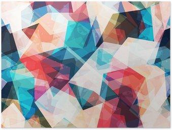 Poster HD Colorato mosaico senza soluzione di modello con effetto grunge