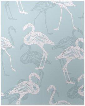 Poster HD Modello uccello fenicottero
