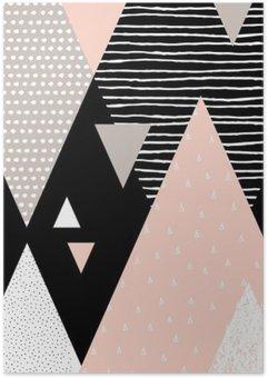 Poster HD Paesaggio astratto geometrica