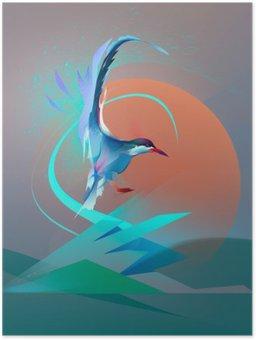 Poster HD Uccello gabbiano sterna