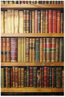Poster HD Vecchi libri biblioteca