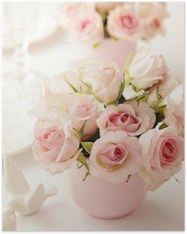 Poster Hochzeit Blumen.