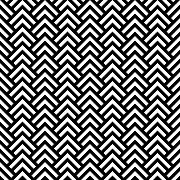 poster in cornice chevron bianco e nero geometrico senza soluzione di pattern vettore pixers. Black Bedroom Furniture Sets. Home Design Ideas