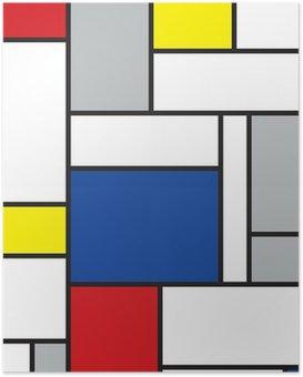 Poster Mondrian inspirierten Kunstwerke