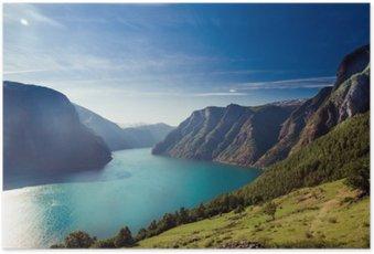 Poster Naeroyfjord / Aurlandsfjord in Norvegia