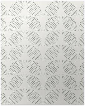 Poster Nahtlose Muster. Handgemalt. Blume. Hintergrund-Design