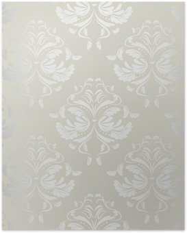Poster Nahtlose wallpaper.damask pattern.floral Hintergrund