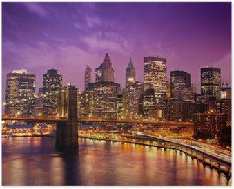 Poster New York, Ponte di Manhattan da Brooklyn