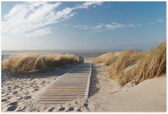 Poster Nordsee Strand auf Langeoog
