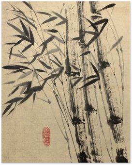 Poster Original-Zeichnung von Bambus