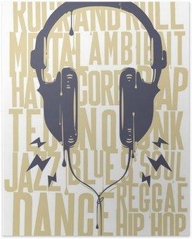 Poster Painted Kopfhörer