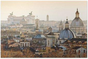 Poster Panorama der Altstadt in Rom, Italien
